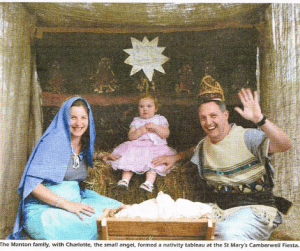 The Manton family in a nativity tableau – The Melbourne Anglican, December 2006