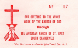 St Mary's offering envelope